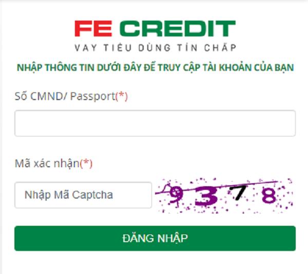 Tra cứu trên website FE Credit