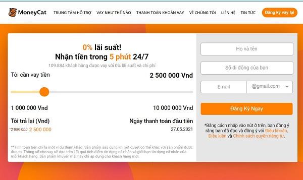 Vay tiền online bằng CMND và Sổ hộ khẩu tại Moneycat