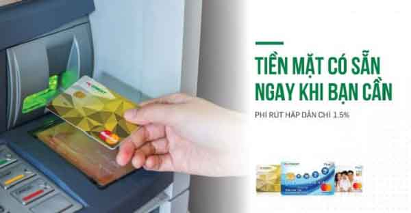 Thẻ FE Credit cho phép rút tiền mặt tại cây ATM với mức phí chỉ từ 1%