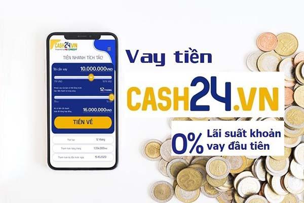 Vay tiền online tại App Cash24h