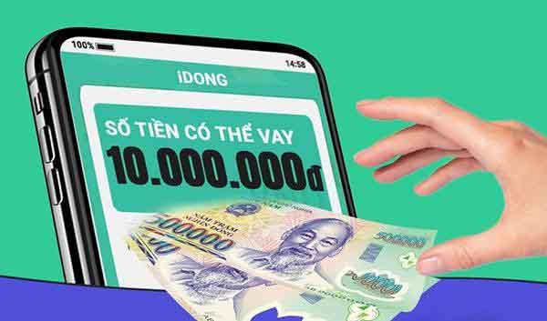 Vay tiền tại App iDong