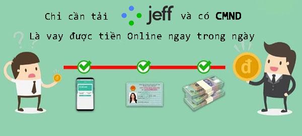 Hướng dẫn cách vay Online 15 triệu đồng bằng CMND tại Jeff App