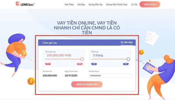 Hướng dẫn cách vay tiền Lendbox hạn mức 100 triệu