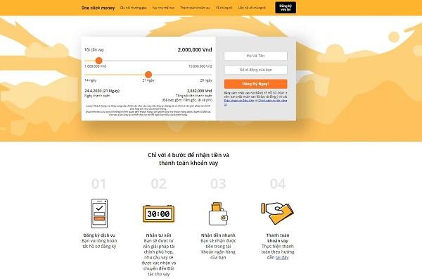 Hướng dẫn cách vay Online 10 triệu lãi 0% tại OneClickMoney