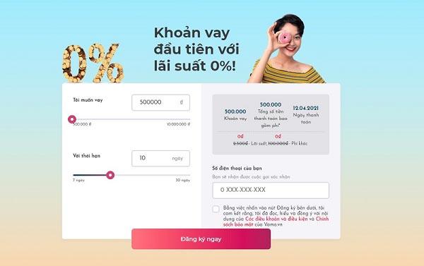 Hướng dẫn cách vay tiền Online Vamo lãi suất 0%