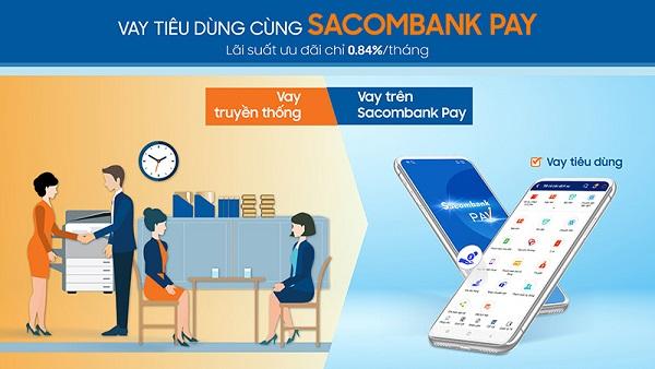 Vay tiêu dùng trên ứng dụng Sacombank Pay