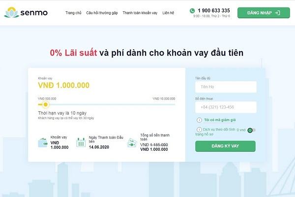 Hướng dẫn cách vay tiền Online Senmo